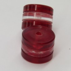 "202 - 1/2"" Lucites™ Red/Clear/Red (Package of 20)"