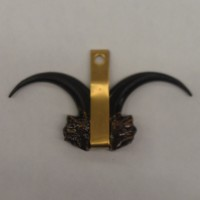 707 - Black / Brass - Claw Medallion (Package of 5)