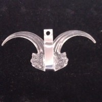 711 - Clear / Stainless - Claw Medallion (Package of 5)