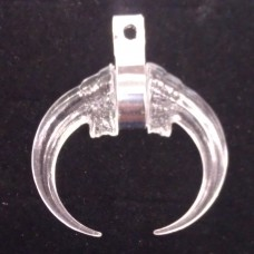 712 - Clear / Stainless - Claw Medallion (Package of 5)